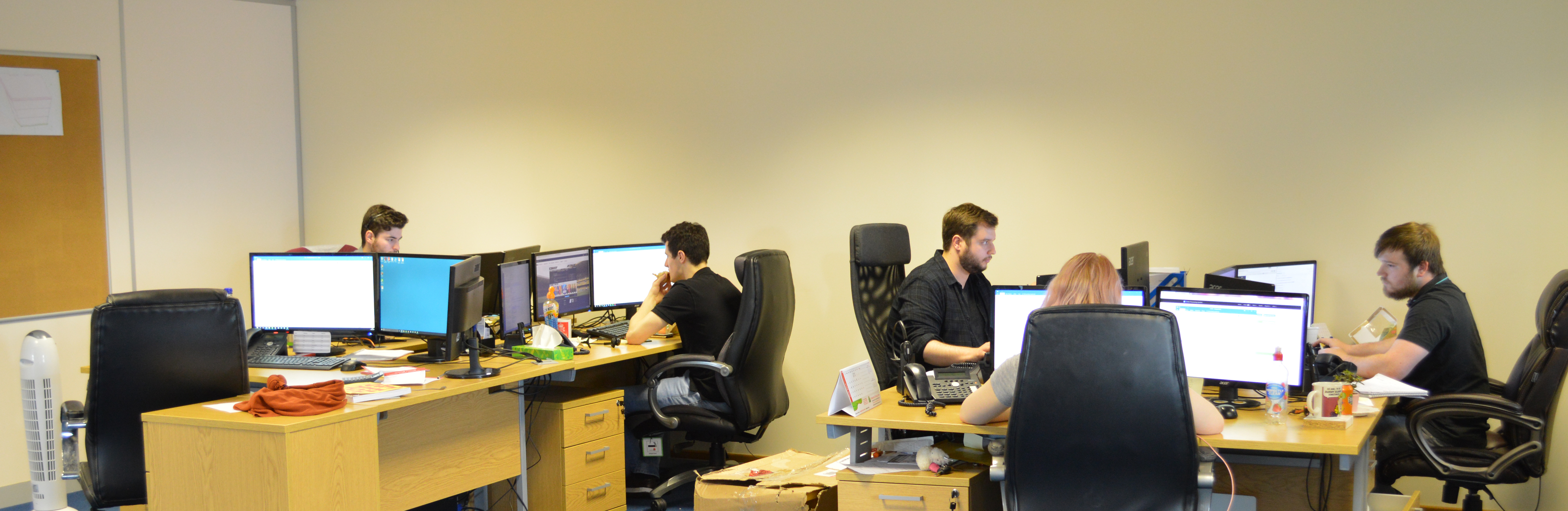 photo of team in office