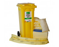 120 Litre Premium Chemical Spill Kit - Two Wheeled Bin