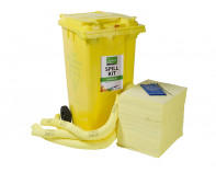 360 Litre Premium Chemical Spill Kit - Two Wheeled Bin
