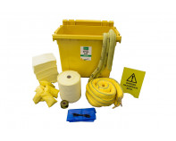 600 Litre Premium Chemical Spill Kit - Four Wheeled Bin