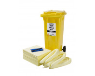 120 Litre Economy Plus Chemical Spill Kit - Two Wheeled Bin