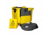 900 Litre Premium Maintenance Spill Kit - Four Wheeled Drop Front Bin