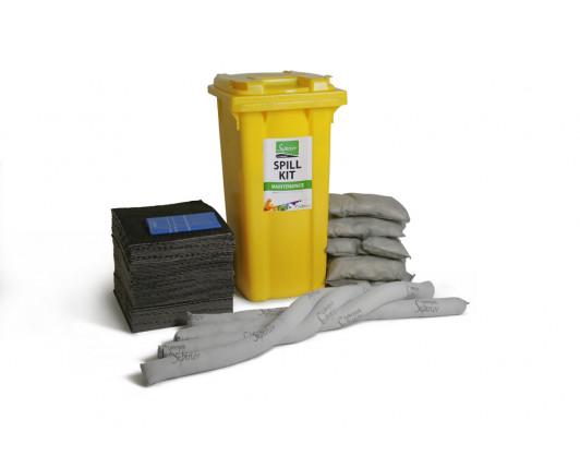 240 Litre Premium Maintenance Spill Kit - Two Wheeled Bin