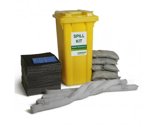 360 Litre Premium Maintenance Spill Kit - Two Wheeled Bin