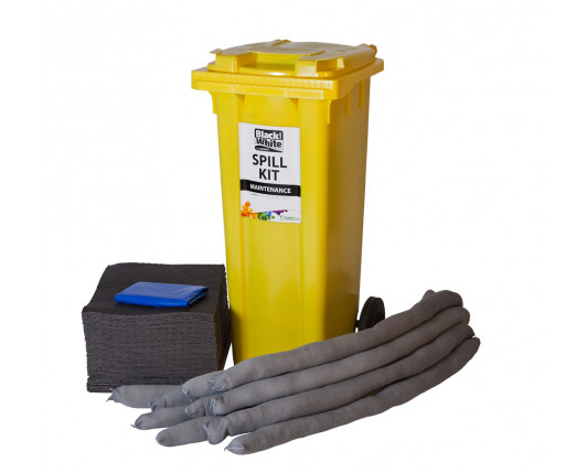 120 Litre Economy Plus Maintenance Spill Kit - Two Wheeled Bin
