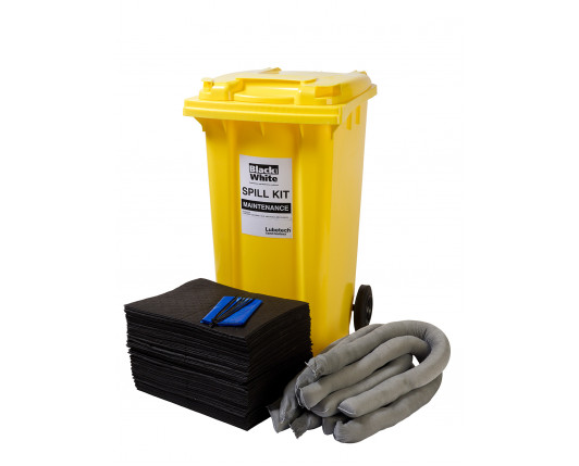240 Litre Economy Plus Maintenance Spill Kit - Two Wheeled Bin