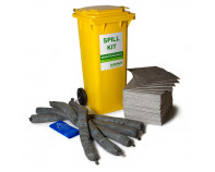 100 Litre Natural Maintenance Spill Kit - Two Wheeled Bin