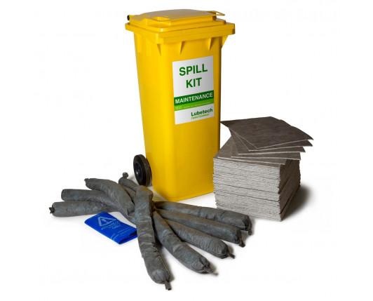 100 Litre Natural Maintenance Spill Kit - Two Wheeled Bin