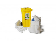 240 Litre Premium Oil-Only Spill Kit - Two Wheeled Bin