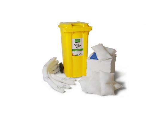 240 Litre Premium Oil-Only Spill Kit - Two Wheeled Bin