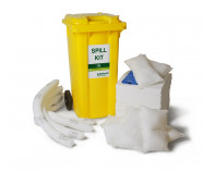 360 Litre Premium Oil-Only Spill Kit - Two Wheeled Bin