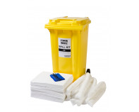 240 Litre Economy Plus Oil-Only Spill Kit - Two Wheeled Bin