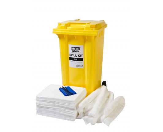 240 Litre Economy Plus Oil-Only Spill Kit - Two Wheeled Bin