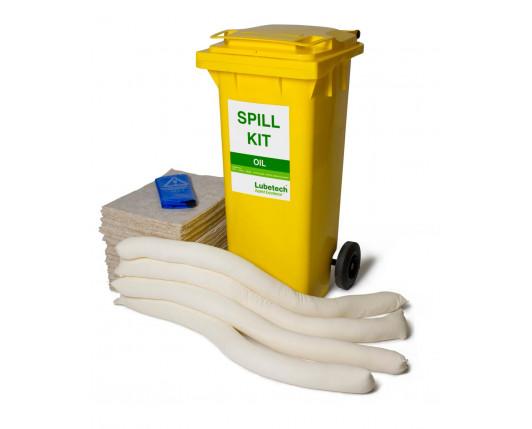 100 Litre Natural Oil-Only Spill Kit - Two Wheeled Bin