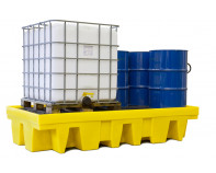 Double IBC Spill Pallet With Grate