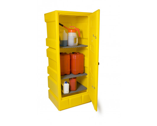 Bunded Cupboard - 3 Shelves - 650 x 570 x 1650mm
