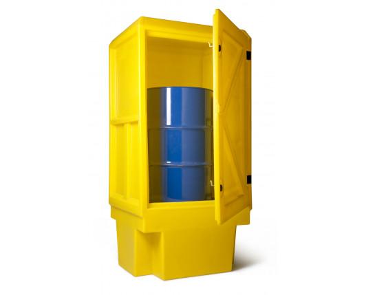 Bunded Drum Cupboard - 2 Shelves - 920 x 710 x 1830mm