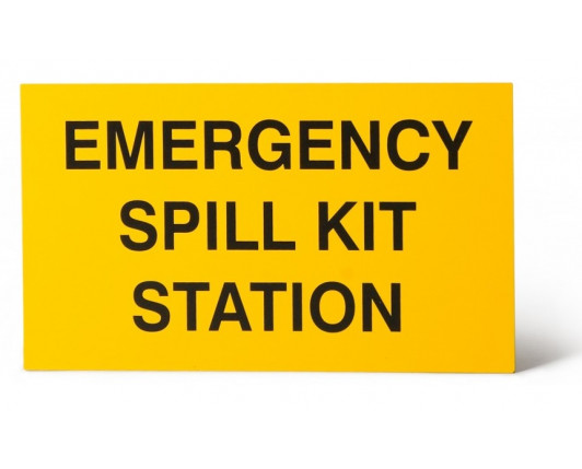 Emergency Spill Kit Station Wall Sign