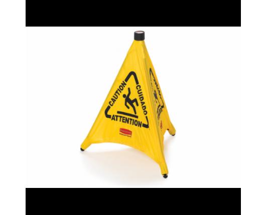 Pop-Up Cone - 50cm Multilingual 'Caution' Symbol