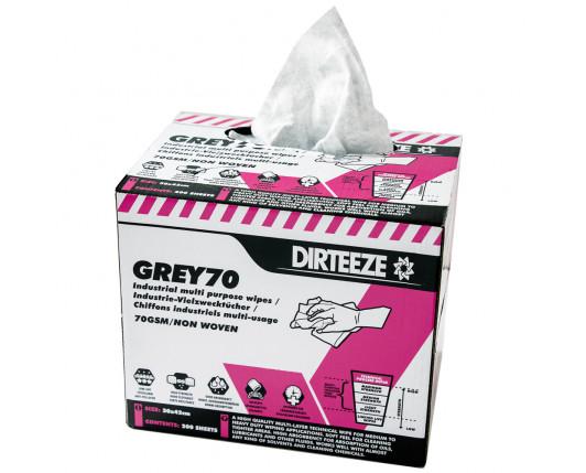 Grey 70 Polishing cloths Box 200 sheets 30 x 42cm
