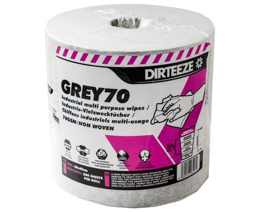 Grey 70 Polishing cloths Roll 500 sheets 30 x 40cm