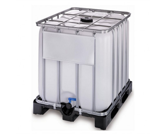 1000 Litre New IBC - 225mm Lid - Plastic Pallet - UN Approved