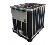 1000 Litre New UN Approved Black IBC with Plastic Pallet