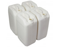 25 Litre Stackable Plastic Jerry Can - White - UN Approved - x4 Pack