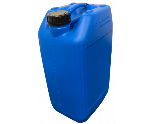25 Litre Stackable Plastic Jerry Can - Blue - UN Approved - x68 Pack