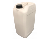 25 Litre Stackable Plastic Jerry Can - White - UN Approved - x68 Pack